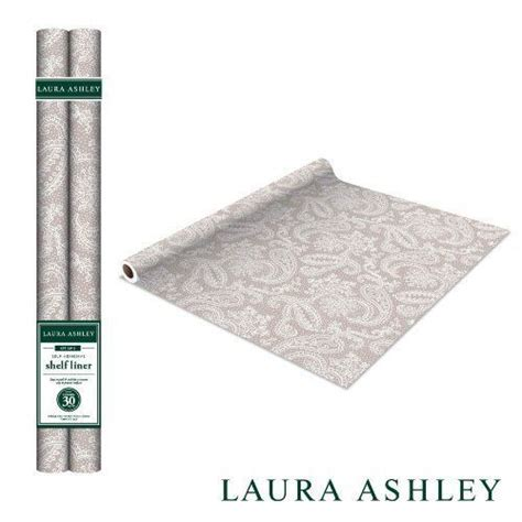 Self Adhesive Shelf Liner by Taupe Paisley Self Adhesive Shelf Liner 2 Pack Brand New