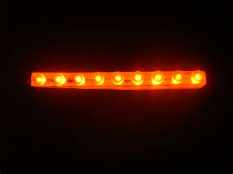 9 Led Orange Ultra Super Bright Lazer Light Laser Strip Ebay Orange Led Light Strips