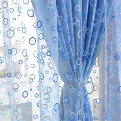 pattern window curtains new circle pattern room voile window curtains sheer panel
