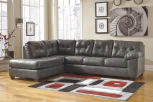 alliston durablend 174 gray 2 pc laf chaise sectional