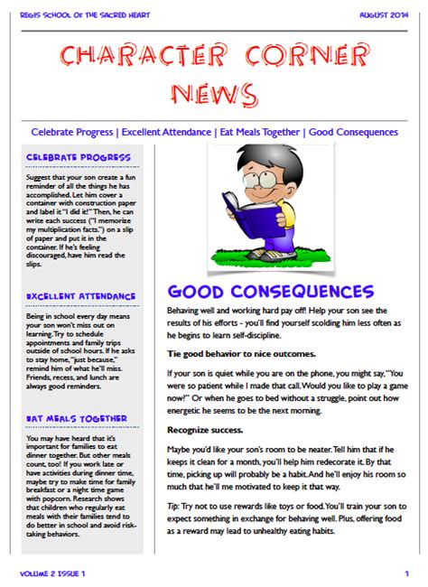 school counselor newsletter promoting your program through monthly newsletters