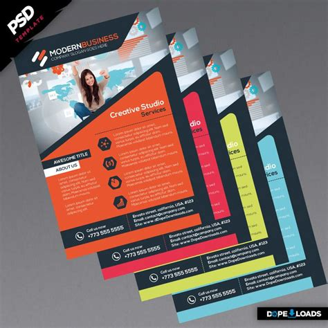 Modern Business Flyers Colors Corporate Identity Pinterest Business Flyers Business Flyer Modern Flyer Template