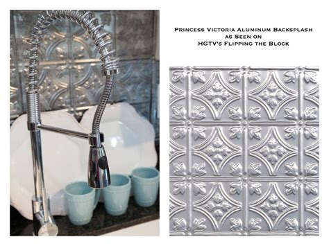 tin backsplash as seen on hgtv s flipping the block