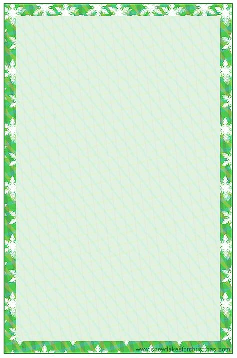 printable snowflakes stationery paper 4 best images of free printable christmas note paper