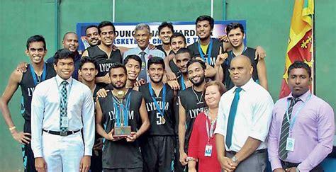 thames international college nugegoda lyceum alumni team wins duncan jayawardana basketball