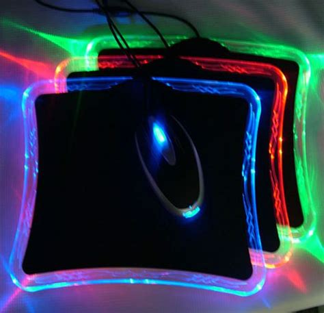 light up gaming mouse pad led mouse pad offers a light on your desktop technabob