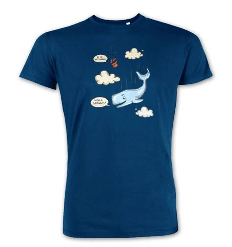 Whale Tshirt falling whale t shirt somethinggeeky