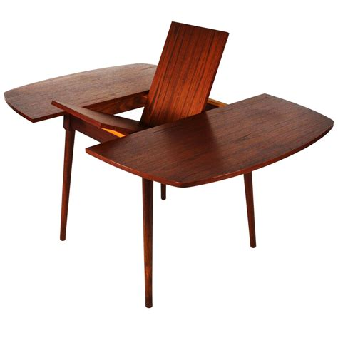 mid century teak extendable dining table at 1stdibs