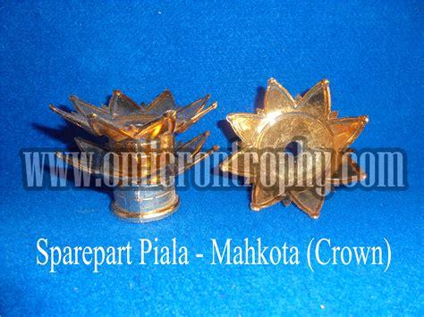 Mahkota Warna Emas Perak Crown Gold Silver grosir bahan piala trophy plastik murah mahkota crown omicron trophy
