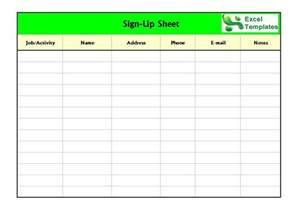 Back To School Sign In Sheet Template by 40 Sign Up Sheet Sign In Sheet Templates Word Excel