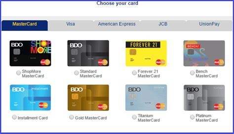 bench credit card bdo credit card requirements the pinay investor