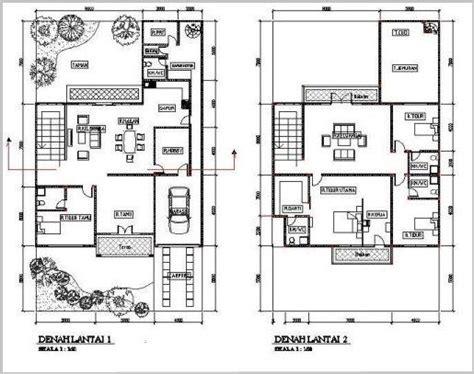 gambar denah rumah minimalis lantai modern denah