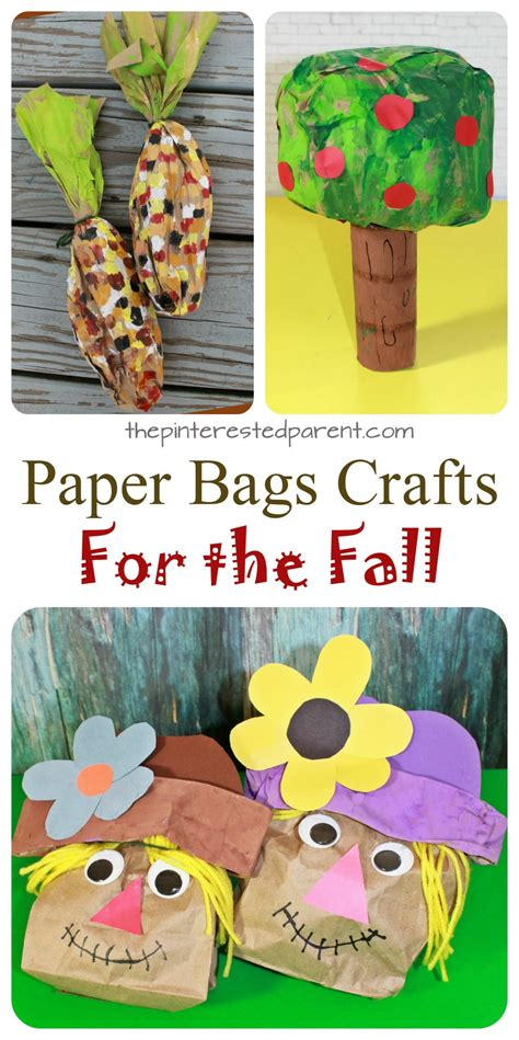 Brown Paper Bag Crafts For - stuffed paper bag fall crafts the pinterested parent
