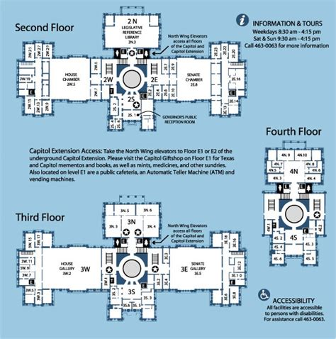 us capitol building floor plan texas state capitol maps and directory north texas