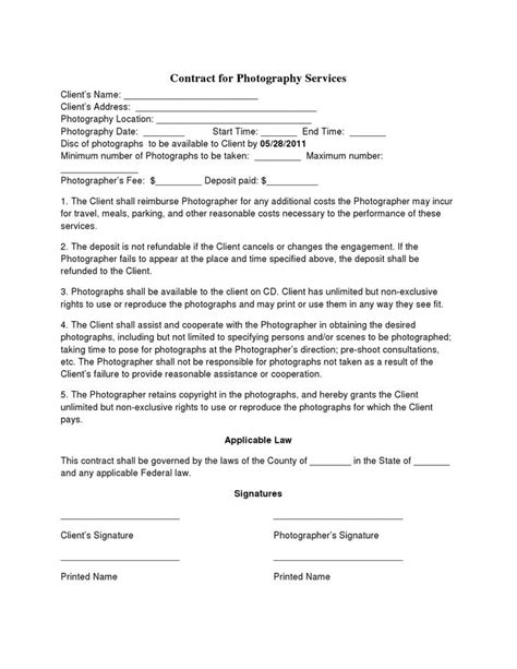 Best 25 Photography Contract Ideas On Pinterest Photography Marketing Photography For Sale Digital Marketing Services Agreement Template