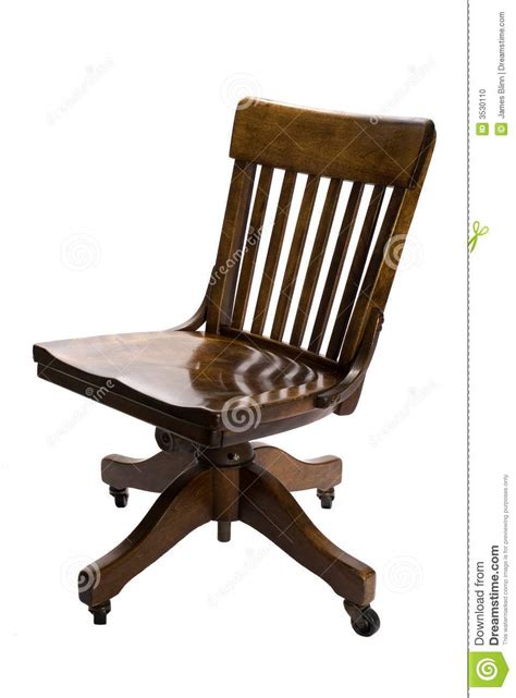 Vintage Desk Chair Swivel Antique Office Chair Stock Photo Image Of Grampa