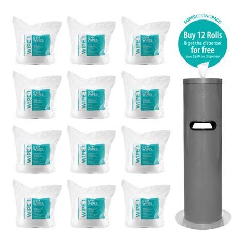antibacterial gym wipes  dispensers hospeco australia wholesale