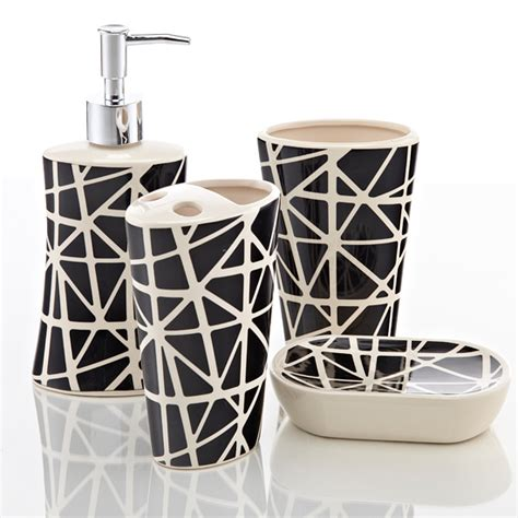 black and white bathroom accessories sets royal club ceramic bath accessories set