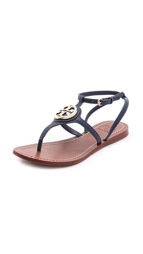 burch sandals burch leticia flat sandals in blue newport