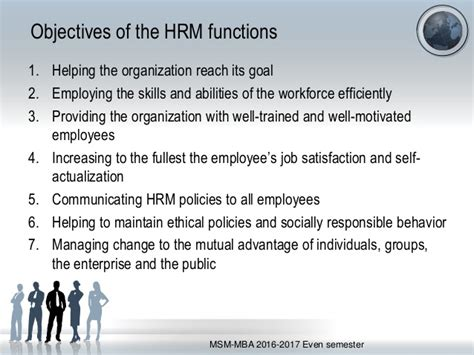 Msm Vs Mba Which Is Better by Unit 1 Perspectives In Human Resource Management