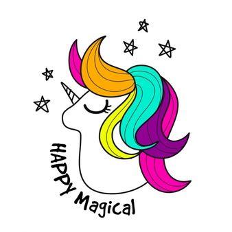 imagenes de unicornios en blanco y negro unicornio fotos y vectores gratis