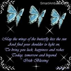 May the wings of the butterfly kiss the sun and find your shoulder to