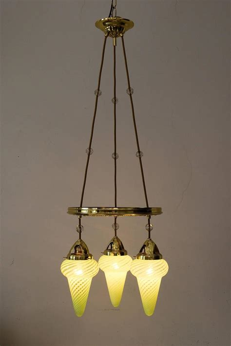 Amazing Chandelier With Opaline Glass And Cut Glass Balls Amazing Chandelier