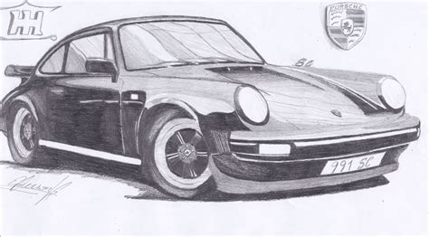 porsche drawing my draw porsche 911sc for carthrottle