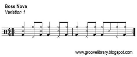drum upbeat pattern groove library the world s hippest drum grooves bossa nova