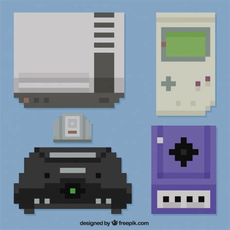free console different consoles pixilated vector free