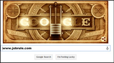 doodle volta doodle honor battery inventor italian physicist