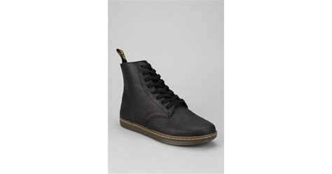 dr martens tobias 8 eye boot dr martens tobias 8 eye boot in black for lyst