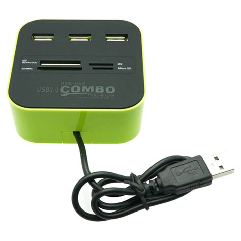 Card Reader Hub combo card reader with 3 ports usb hub
