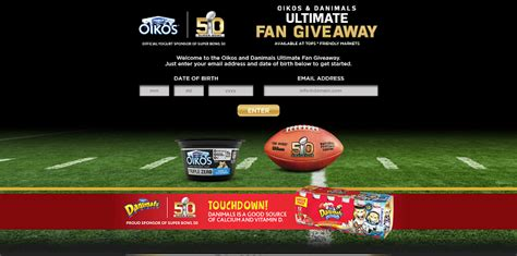 dannon oikos nfl sweepstakes at tops - Nfl Sweepstakes