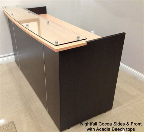 Glass Top Reception Desk Custom Standing Height Glass Top Reception Desks 6 W Custom Standing Height Glass Top