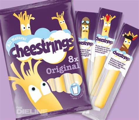 cheesestrings the dieline packaging branding design