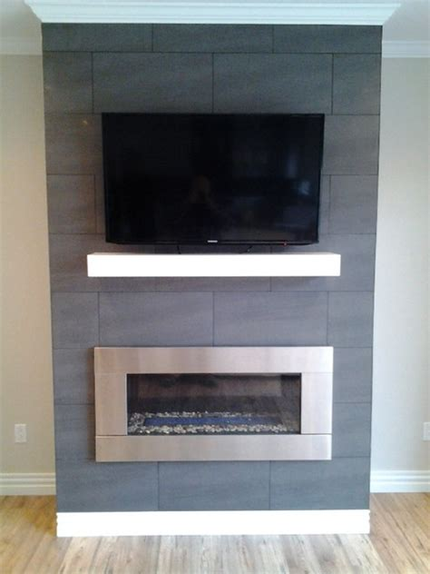 Stainless Steel Fireplace Inserts by Contempory Mantel With Stainless Steel Fireplace Insert