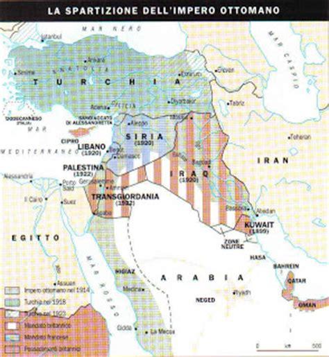 impero ottomano 1914 ripasso facile riassunto conflitti israelo palestinesi