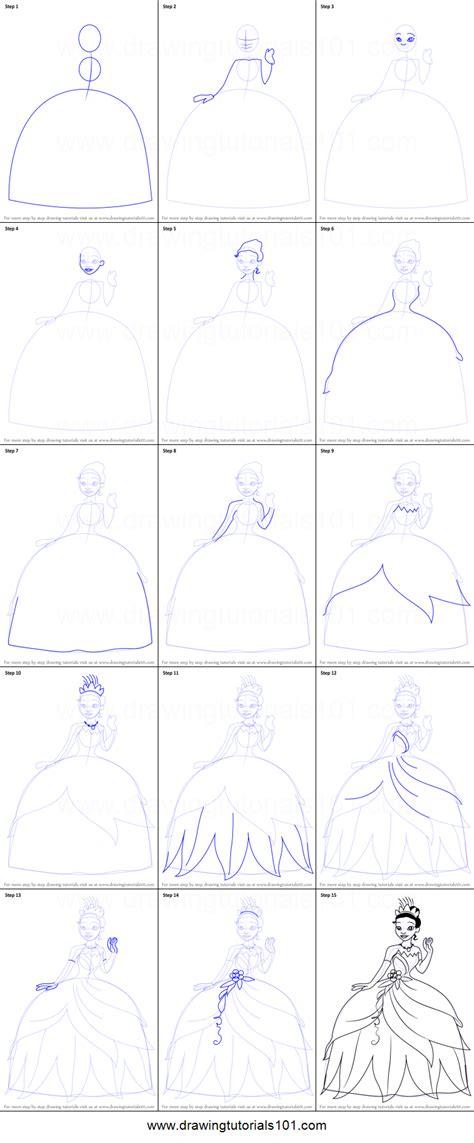 draw tiana   princess   frog printable