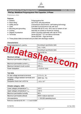 datasheet capacitor epcos b32344 datasheet pdf epcos