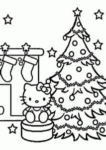 christmas  kitty coloring pages  kids printable