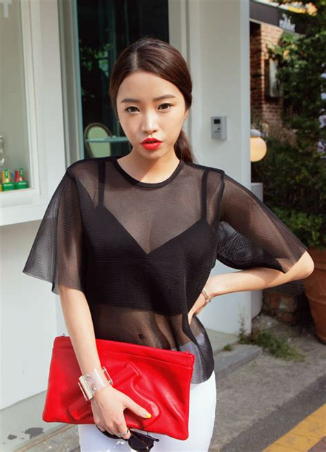 Blouse Fashion Korea 420103 5 stylenanda see through mesh blouse kstylick korean fashion k pop styles fashion