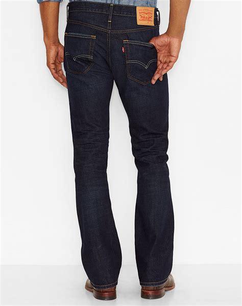 mens slim boot cut levi s 174 s 527 slim bootcut indigo black