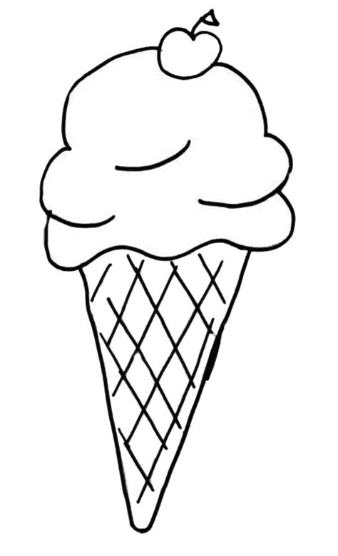 coloring pages with ice cream ice cream cone coloring page clipart best