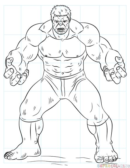 hulk coloring pages easy how to draw hulk step by step drawing tutorials