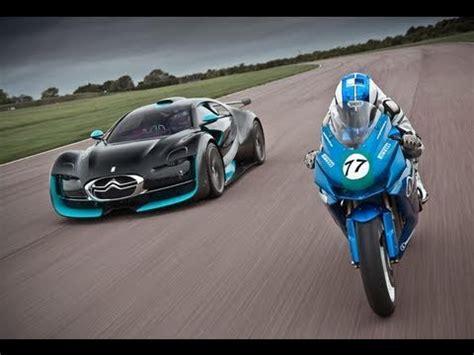 Car Wallpapers Racing Motorcycle by Electric Car Vs Bike Citroen Survolt Vs Agni Z2