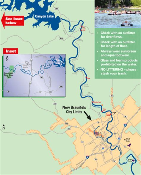 guadalupe river map texas guadalupe river information water level comal