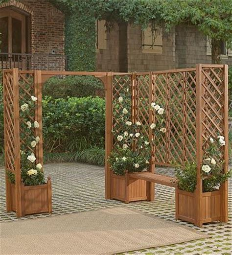 Trellis And Planter by Planters Benches And Trellises Outdoor Inspiration