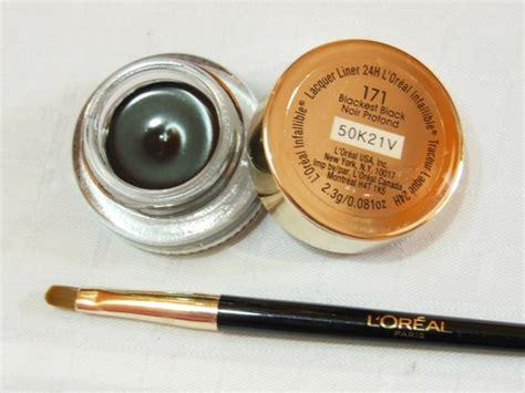 Harga L Oreal Infallible Gel Eyeliner l oreal infallible 24h lacquer gel liner blackest