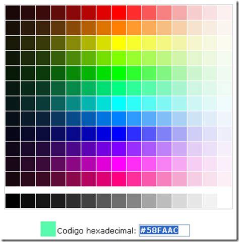 colores hexadecimales colores hexadecimales